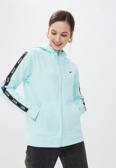 268aceac Толстовка, Nike, цвет: бирюзовый. Артикул: NI464EWETRK6. Одежда / Толстовки  и