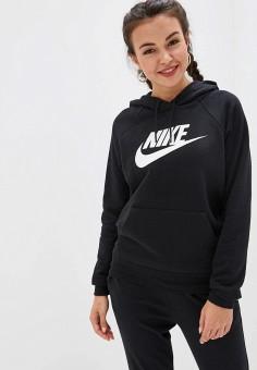 d9354711 Худи, Nike, цвет: черный. Артикул: NI464EWFLCW7. Одежда / Толстовки и