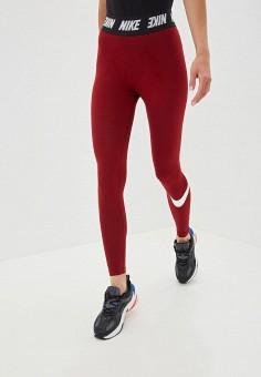 791c7cc3ac2a6 Леггинсы, Nike, цвет: бордовый. Артикул: NI464EWFNDO1. Одежда / Брюки /