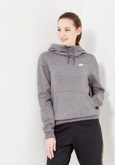 a683a652 Худи, Nike, цвет: серый. Артикул: NI464EWUHC42. Одежда / Толстовки и