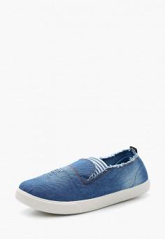 07aa714ba Слипоны, Nobbaro, цвет: голубой. Артикул: NO021AWASFO3. Обувь / Слипоны