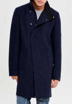 0d9c58a12e05 Пальто, Only  amp  Sons, цвет  синий. Артикул  ON013EMBUUY6. Одежда