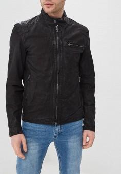 Куртка кожаная, Only  amp  Sons, цвет  черный. Артикул  ON013EMDJWK3. 79c63ec75da