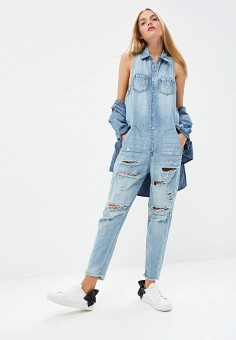 172c8f7bf13c Комбинезон джинсовый, One Teaspoon, цвет  синий. Артикул  ON016EWBXRC5.  Одежда