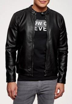 Куртка кожаная, oodji, цвет  черный. Артикул  OO001EMAJUH2. Одежда   Верхняя f2c95360abd