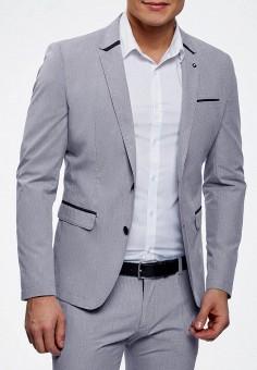 Пиджак, oodji, цвет  серый. Артикул  OO001EMBFCD5. Одежда   Пиджаки и ded87885e7c