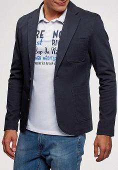 Пиджак, oodji, цвет  синий. Артикул  OO001EMCSGA1. Одежда   Пиджаки и 0480ee1a8bc