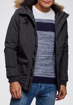 05091bdf Куртка утепленная, oodji, цвет: серый. Артикул: OO001EMDFOM5. Одежда /  Верхняя
