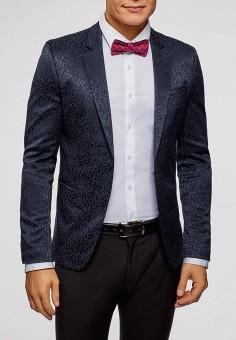1545e07e7c55 Пиджак, oodji, цвет: синий. Артикул: OO001EMDQTP5. Одежда / Пиджаки и