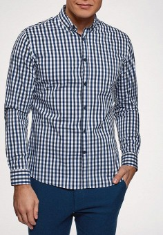 c87a54c583cb Рубашка, oodji, цвет: синий. Артикул: OO001EMEQFY2. Одежда / Рубашки