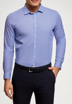 3f499544f Рубашка, oodji, цвет: синий. Артикул: OO001EMFCAC2. Одежда