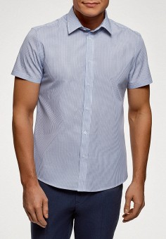 3af86e6d4e482ec Рубашка, oodji, цвет: голубой. Артикул: OO001EMFJBE9. Одежда / Рубашки