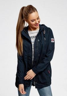 4377d70b Куртка, oodji, цвет: синий. Артикул: OO001EWBIJN3. Одежда / Верхняя одежда