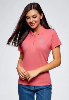 a2caf9f90445f2 Поло, oodji, цвет: розовый. Артикул: OO001EWBPEO1. Одежда / Футболки и