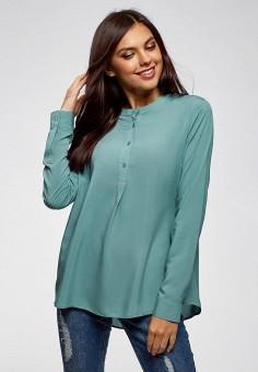 ab3a8f7c70e3 Блуза, oodji, цвет  бирюзовый. Артикул  OO001EWCKCF2. Одежда   Блузы и