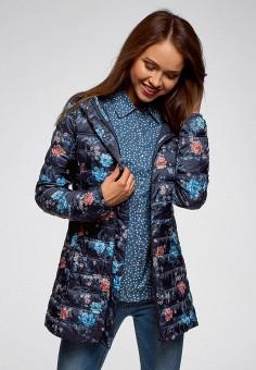d006298b3334d Куртка утепленная, oodji, цвет: синий. Артикул: OO001EWDCAK3. Одежда /  Верхняя