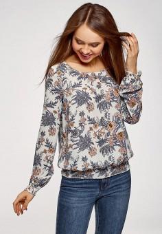 b931c83372f9e61 Блуза, oodji, цвет: белый. Артикул: OO001EWEAOU9. Одежда / Блузы и