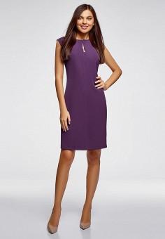 b8b6ecf8cf3fb08 Платье, oodji, цвет: фиолетовый. Артикул: OO001EWEAOW0. oodji