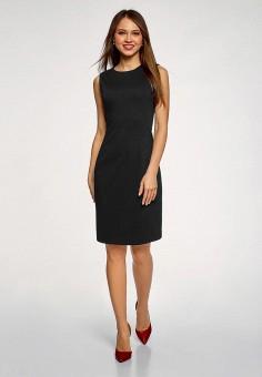 5d27bf604a9e9d8 Платье, oodji, цвет: черный. Артикул: OO001EWEBUD0. Одежда