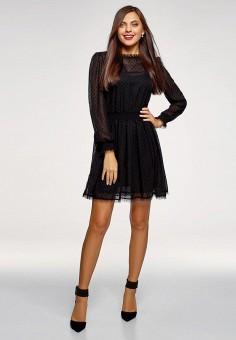 7b180486eadf2d3 Платье, oodji, цвет: черный. Артикул: OO001EWEVBS8. Одежда / Платья и