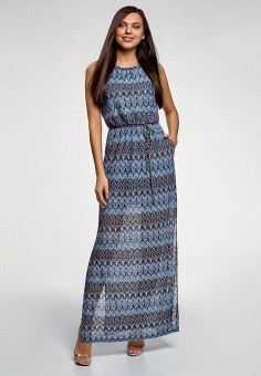 9b862279a1016cc Платье, oodji, цвет: мультиколор. Артикул: OO001EWFFON2. Одежда / Платья и