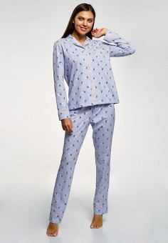 a22bf36a1058d Пижама, oodji, цвет: голубой. Артикул: OO001EWFJBF2. Одежда / Домашняя  одежда