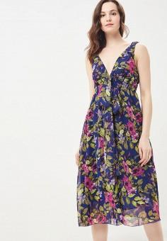 568e418d9b88c4f Платье, oodji, цвет: мультиколор. Артикул: OO001EWIRW41. Одежда / Платья и