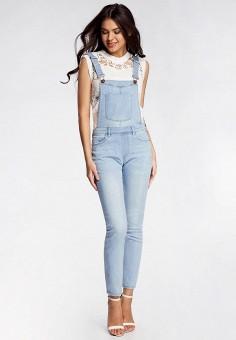 05f80cf7a5be Комбинезон джинсовый, oodji, цвет  голубой. Артикул  OO001EWPVK70. Одежда    Комбинезоны