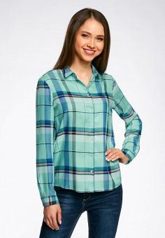 f43384c3a7c Купить бирюзовые женские рубашки от 549 руб в интернет-магазине ...