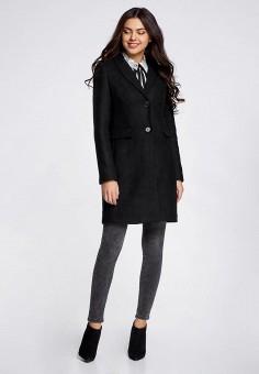 802d23ca36c7 Пальто, oodji, цвет  черный. Артикул  OO001EWQUA34. Одежда   Верхняя одежда