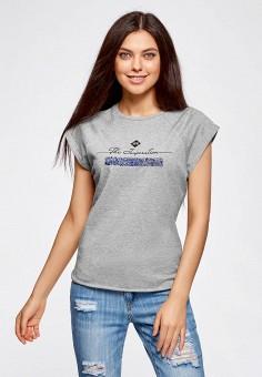 15b572bf9f4 Купить женские футболки с коротким рукавом Oodji (Оджи) от 259 руб в ...