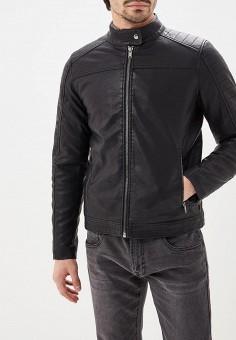 Куртка кожаная, OVS, цвет  черный. Артикул  OV001EMCUON3. Одежда d79ee0e5aac