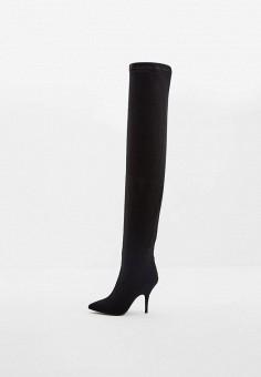 Ботфорты, Patrizia Pepe, цвет: черный. Артикул: PA748AWCEHD3. Обувь