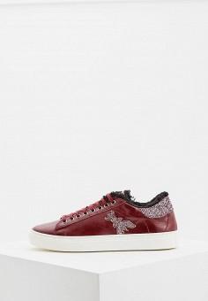 Кеды, Patrizia Pepe, цвет: бордовый. Артикул: PA748AWCEHD7. Обувь