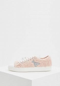 Кеды, Patrizia Pepe, цвет: розовый. Артикул: PA748AWCEHE0. Обувь