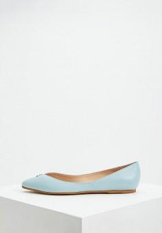 89ebe8f49 Балетки, Patrizia Pepe, цвет: бирюзовый. Артикул: PA748AWEYLE7. Premium /  Обувь