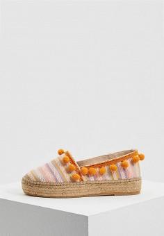 Эспадрильи, Patrizia Pepe, цвет: оранжевый. Артикул: PA748AWYLI79. Обувь
