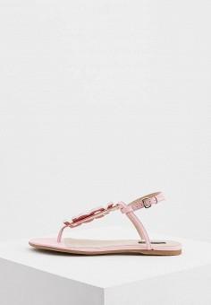 Сандалии, Patrizia Pepe, цвет: розовый. Артикул: PA748AWYLJ06. Обувь