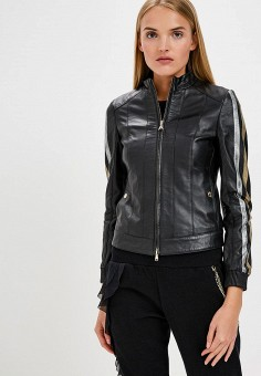 Куртка кожаная, Patrizia Pepe, цвет: черный. Артикул: PA748EWBXSL7.
