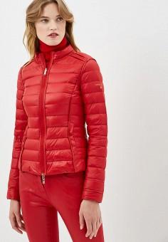 Пуховик, Patrizia Pepe, цвет: красный. Артикул: PA748EWBXSM5. Premium / Одежда / Верхняя одежда