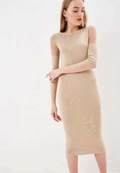 cacb61edc34426e Платье, Patrizia Pepe, цвет: бежевый. Артикул: PA748EWEYKP6. Premium /  Одежда