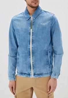 f6de172a Куртка джинсовая, Pepe Jeans, цвет: голубой. Артикул: PE299EMEPWC4. Одежда /