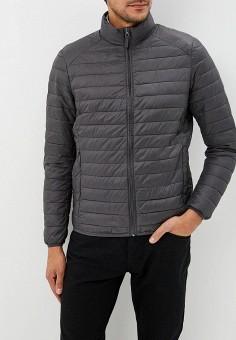 Куртка утепленная, Piazza Italia, цвет: серый. Артикул: PI022EMCUXC7. Одежда / Верхняя одежда