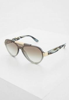 Очки солнцезащитные, Prada, цвет  серый. Артикул  PR040DMZBW26. Аксессуары    Очки 453099e6700