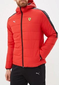 bb9e9e60266e Куртка утепленная, PUMA, цвет  красный. Артикул  PU053EMCJJL6. Одежда    Верхняя