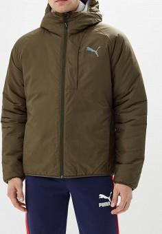 535ecb44aef1 Куртка утепленная, PUMA, цвет  хаки. Артикул  PU053EMCJJM3. Одежда   Верхняя