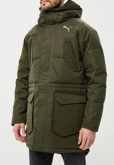 556278128b3ded Пуховик, PUMA, цвет: зеленый. Артикул: PU053EMCJJO0. Одежда / Верхняя одежда