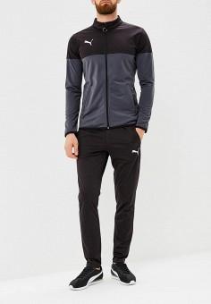 Костюм спортивный, PUMA, цвет  серый, черный. Артикул  PU053EMCJKK9. Одежда 7082b942766