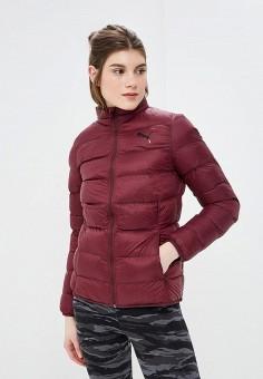 545f16e1c937 Куртка утепленная, PUMA, цвет  бордовый. Артикул  PU053EWCJME2. Одежда    Верхняя