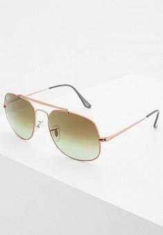 Очки солнцезащитные, Ray-Ban®, цвет  золотой. Артикул  RA014DMQBS56. f40e781f2d